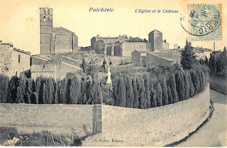 Carte postale Clocher et château