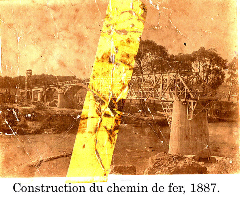 Construction du chemin de fer 1887