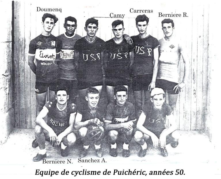 Équipe cycliste années 50