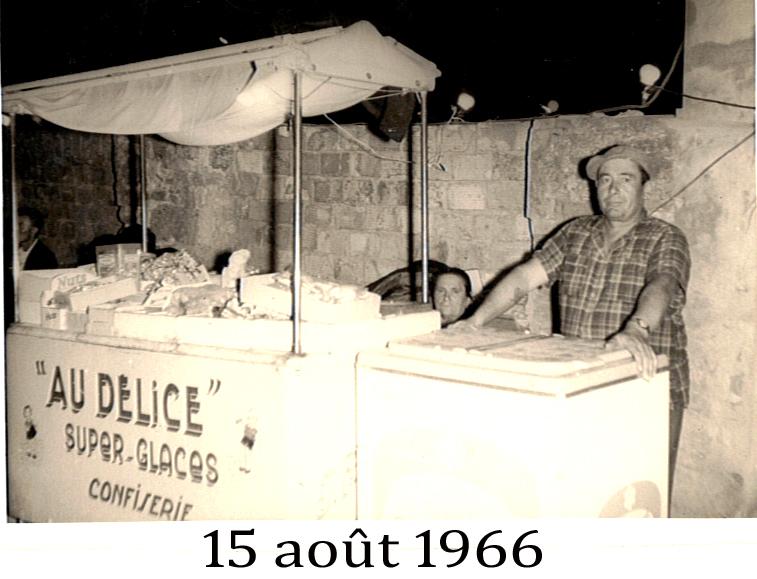 Marchand de glaces, fête locale 1966