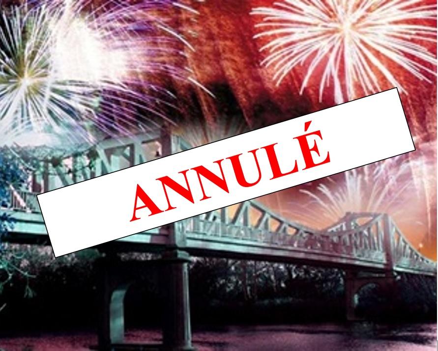 Annulation du feu d'artifice et de la soirée du 13 juillet